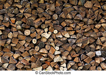 Wood splitting - Background of wood splitting in the garden