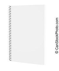 3d Render of a Spiral Notebook