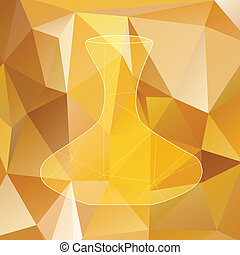 decanter silhouette polygon