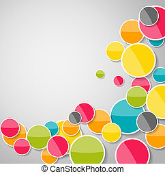 Abstract Glossy Circle Background Vector Illustration EPS10
