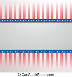patriotic background with stars and stripes - detailed...
