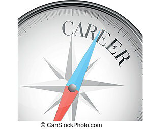 compass career - detailed illustration of a compass with...