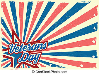 Veterans Day background - detailed illustration of a grungy...