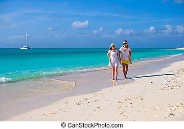 Young happy couple have fun on carribean vacation