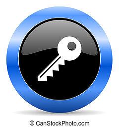 key blue glossy icon - blue circle glossy web icon