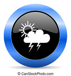 storm blue glossy icon