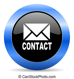 email blue glossy icon - blue circle glossy web icon