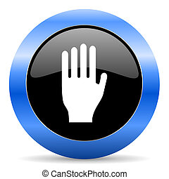stop blue glossy icon - blue circle glossy web icon