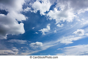 blue sky, abstract background