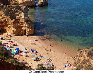 Ponta da Piedade V - Small beach on Ponta da Piedade on...