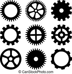Vector wheels isolated on white