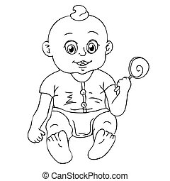 Illustration of a baby on white background