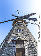 Dutch windmill in Benz - The Dutch windmill in Benz on the...