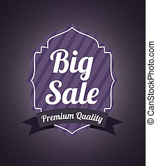 Shopping design over purple background, vector illustration