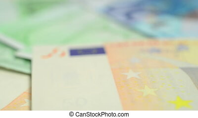 European exchange - Banknotes of 100, 50 and 20 Euros