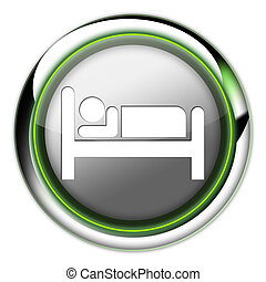 Icon, Button, Pictogram Hotel, Lodging - Icon, Button,...