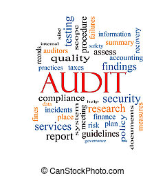 Audit Word Cloud Concept