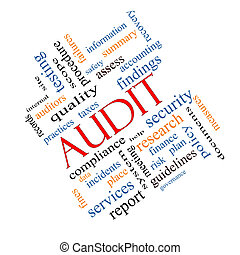 Audit Word Cloud Concept Angled - Audit Word Cloud Concept...