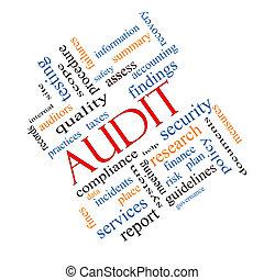 Audit Word Cloud Concept Angled - Audit Word Cloud Concept...