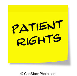 Patient Rights Sticky Note - Patient Rights written on a...