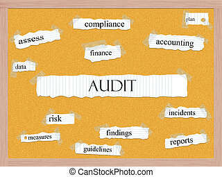 Audit Corkboard Word Concept with great terms such as...
