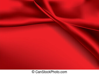 Red colored satin fabric background