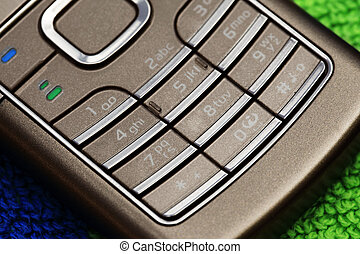 Keyboard of the phone close-up