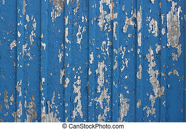 Painted blue flaked corrugated metal sheet - Painted blue...