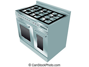 cooker isolated on white background. 10 EPS