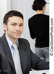 Smiling businessman - Closeup portrait of businessman...