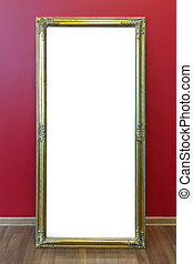 Mirror golden frame - Yellow plastic mass production frame...