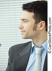 Portrait of businessman - Profile portrait of businessman...