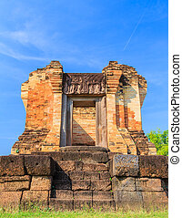The old castle rock in Thailand - After the restoration of...