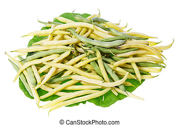 string beans - Lots of real gardening yellow and green...