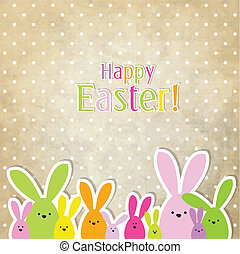 Easter card with copy space, easter bunny - Easter card