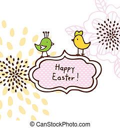 Easter egg, cute doodle design element