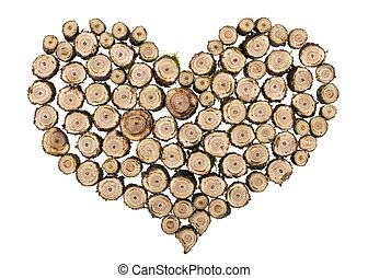 Wooden heart concept