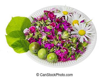 Floral nature diet concept