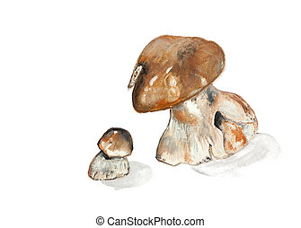 mushrooms - Edible wood mushrooms big and small - handmade...