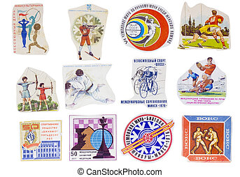 Soviet Union sport banners set - Ideological paper banners...