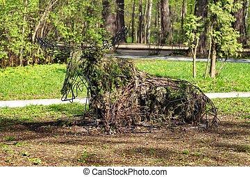 sculpture elk - Moscow Park Sokolniki