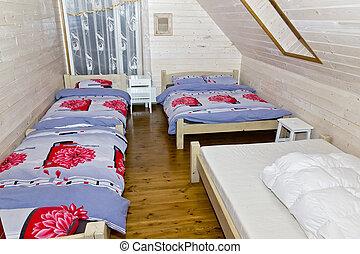 Bedroom in rural  pension hotel