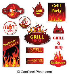 Fire label grill - Hot price fire flame paper sale discount...