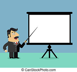 Business presentation scene - Business life shareholder boss...