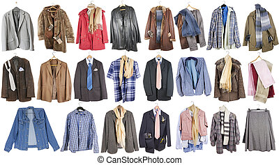 Clothing for poor people - A complete isolated set of summer...
