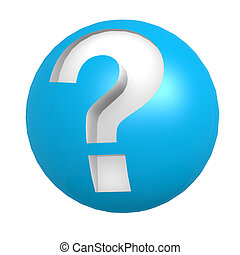 Blue sphere question mark