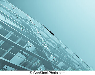 Glass facade - Detail of a modern structural glass facade...