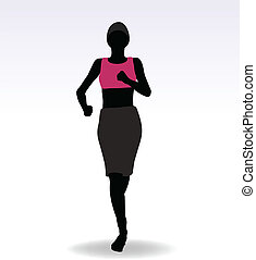 Active Jogging Girl or Woman