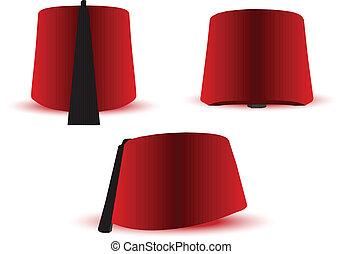 Turkish, Egyptian hat, fez - Vector Illustration of Turkish,...