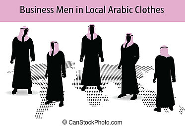 man in middle east style clothing - EPS 10 Vector...